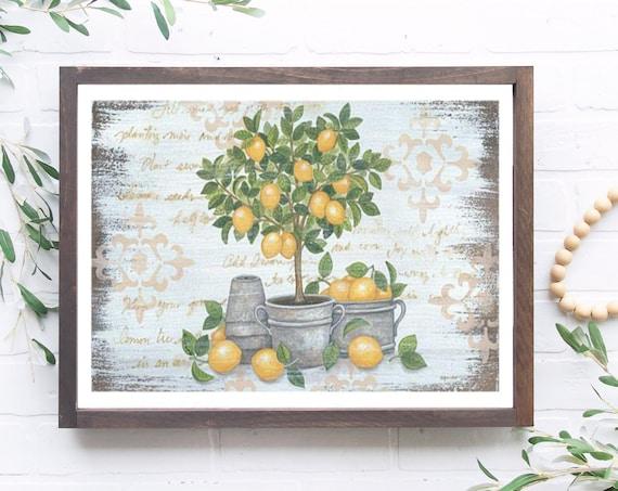 Lemon Topiary,Lemon Decor,Lemon Sign, Lemon Decor, Lemon Lover Sign, Lemon Kitchen Decor, Lemon, Lemon Print