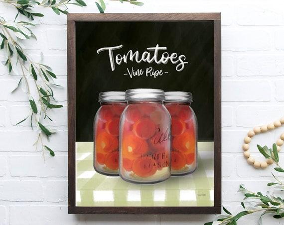 kitchen sign | Mason Jar sign | kitchen wall decor | farmhouse sign | farmhouse kitchen decor| Home Decor | Farmhouse Kitchen Sign |Tomato