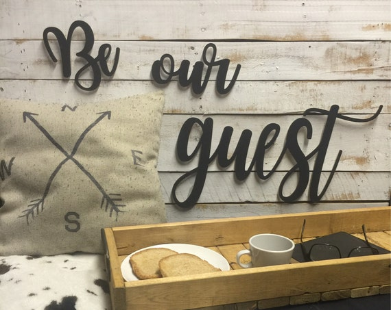 Be Our Guest Sign-Guest Room-Guest Room Decor-Guest Room Sign-Rustic Guest Sign-Beauty and the Beast Sign
