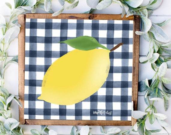 Lemon Print-Lemon Decor, Make Lemonade Sign, Lemon Decor, Lemon Lover Sign, Lemon Kitchen Decor, Lemonade Print