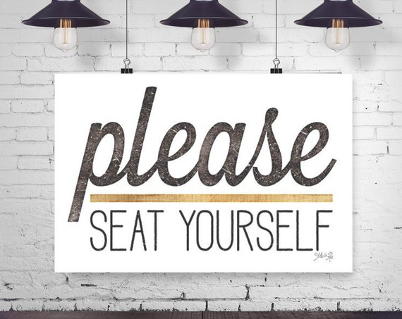 Please Seat Yourself Paper Print - Funny Bathroom Print - Kids Bathroom Print - Toilet Paper Print - Funny Bathroom Quote - Cheeky Bath