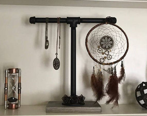 Industrial Jewelry Stand-Pipe Jewelry Stands-Pipe Display-Metal Display Stands-Jewelry Rack-Industrial Stand-Industrial Chic-