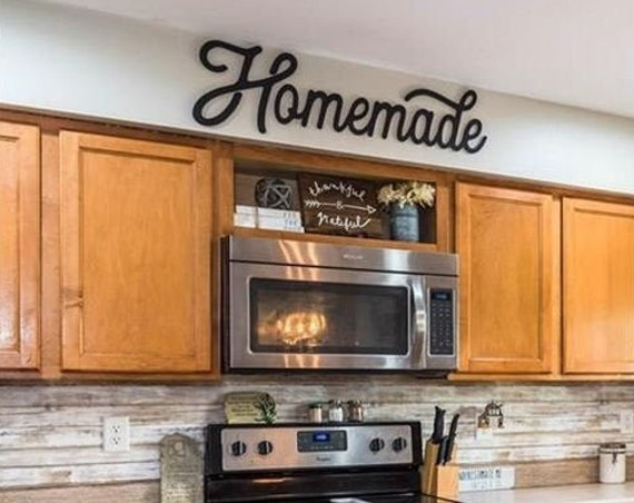 Homemade Sign-Homemade Wood Sign-Retro Homemade Sign-Farmhouse Kitchen-Kitchen Sign-Wood Cut Out-Wood Sign-Farmhouse Kitchen Decor