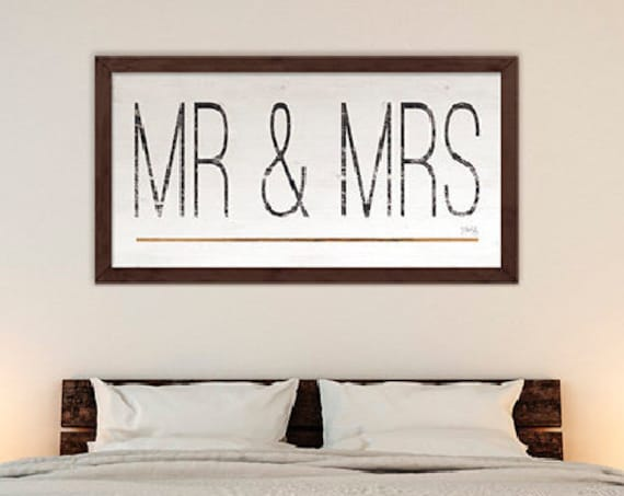 Mr. and Mrs. Print - Wedding Print - Wedding Keepsake - Mr & Mrs Print - Wedding Gift, - Couples Wall Decor - Marla Rae