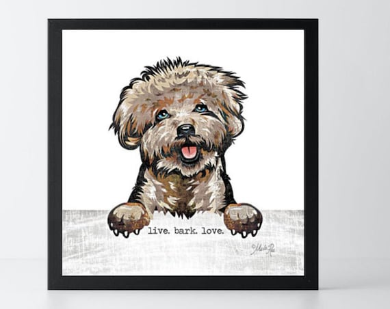 Pet Print - Live Bark Love Dog Print - Typography Art Print - Inspirational Pet lover gift - dog lover gift - pet room decor