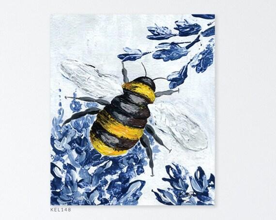 Bumble Bee Print - Bee Print - Bee Art Print - Bumble Bee Art Print