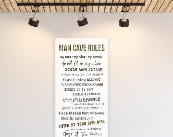 man cave - man cave rules - man cave print - man cave decor - man cave wall art - man cave decoration - man cave art - funny man cave sign