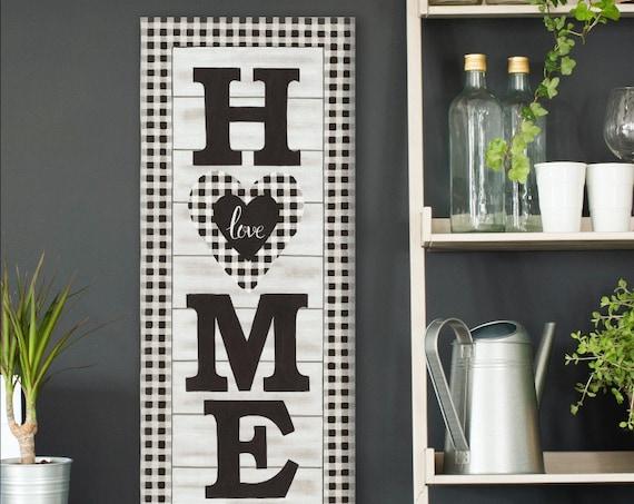 Home Print Buffalo Plaid Print, Home Prints, Family Print, Home Decor, Wall Art, Home Poster, Kitchen Prints, Living room Prints