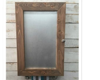 Rustic Medicine Cabinet, Bathroom Storage, Rustic Bathroom Shelves, Rustic Bathroom Cabinet - Farmhouse Bathroom - wood and metal cabinet