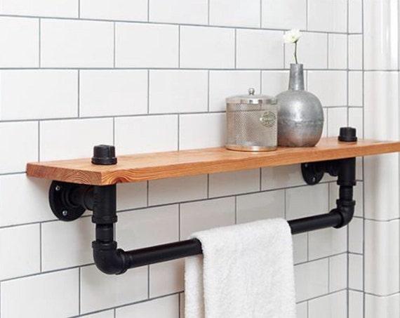 Industrial Bathroom Decor-Floating shelf-