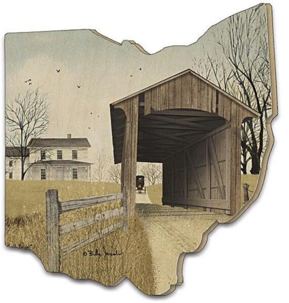 Old Millers Creek Bridge Sign - Wooden Ohio Sign - Billy Jacobs Sign - Ohio sign - Ohio Wood Sign - Old Bridge Sign - Billy Jacobs Artwork