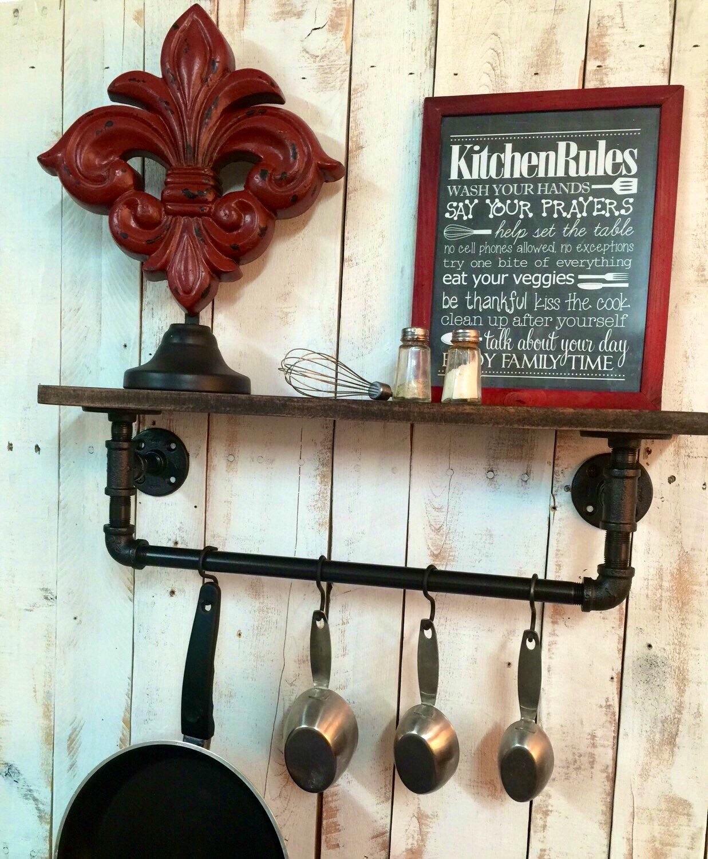 Pics Of Rustic Industrial Kitchen: Industrial Kitchen Shelf Rustic Kitchen Shelves Industrial