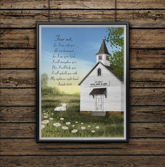 Scripture Wall Decor | Isaiah 41 Print | living room decor| bible verse sign | Faith Poster | bible verse Print | Fear Not | Billy Jacobs