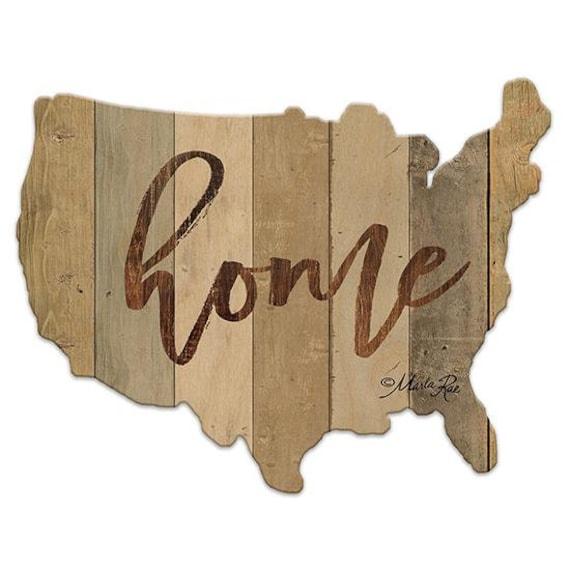 Home Sign - America cutout Sign - Wooden USA Sign - America Sign - USA Wooden sign - USAWood Sign - American Flag - Usa wood cutout sign