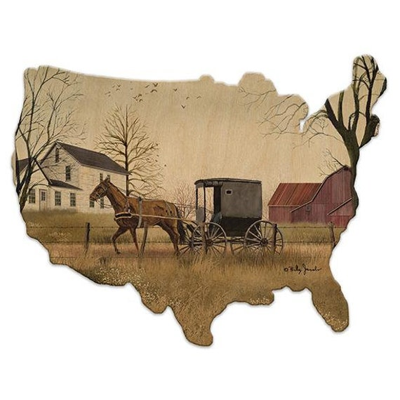 Goin to Market Sign - Wooden USA Sign - American Sign - USA sign - USA Wood Sign - Wooden American Sign -  Billy Jacobs artwork