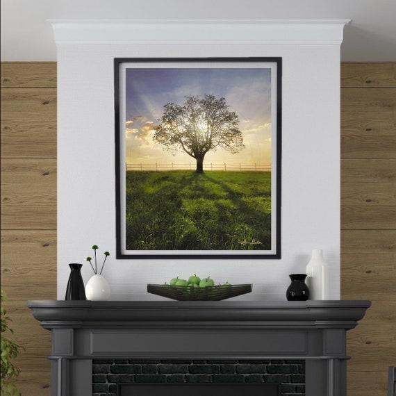 Sunset Wall Art, Sunrise Landscape, Sunshine Wall Art, Sunset Art, Sunset Print, Sunrise Landscape Print