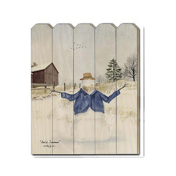 Amish Snowman Sign - Christmas Sign - Billy Jacobs Sign - Snowman Sign - Winter Wood Sign - Wood Pallet Sign - Wood Sign