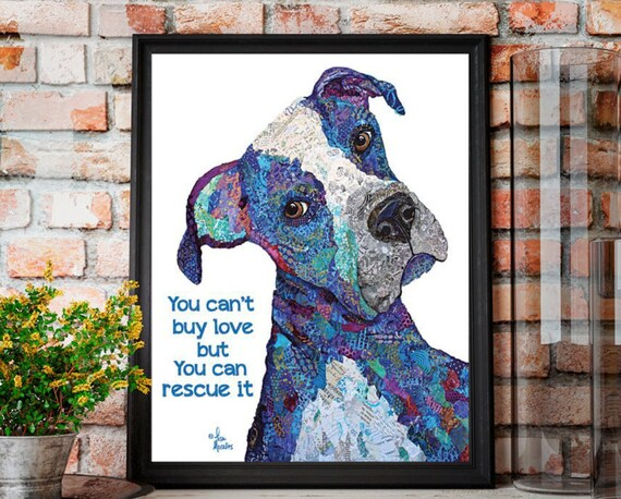 Dog Rescue - Dog Art - Rescue Dog - Dog Poster - Dog Print - Dog Picture - Animal Rescue - Adopt a pet print