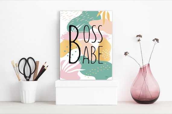 Boss Babe Poster | Office Decor | Boss Babe Print | Lady boss Sign | Empowered Women Sign