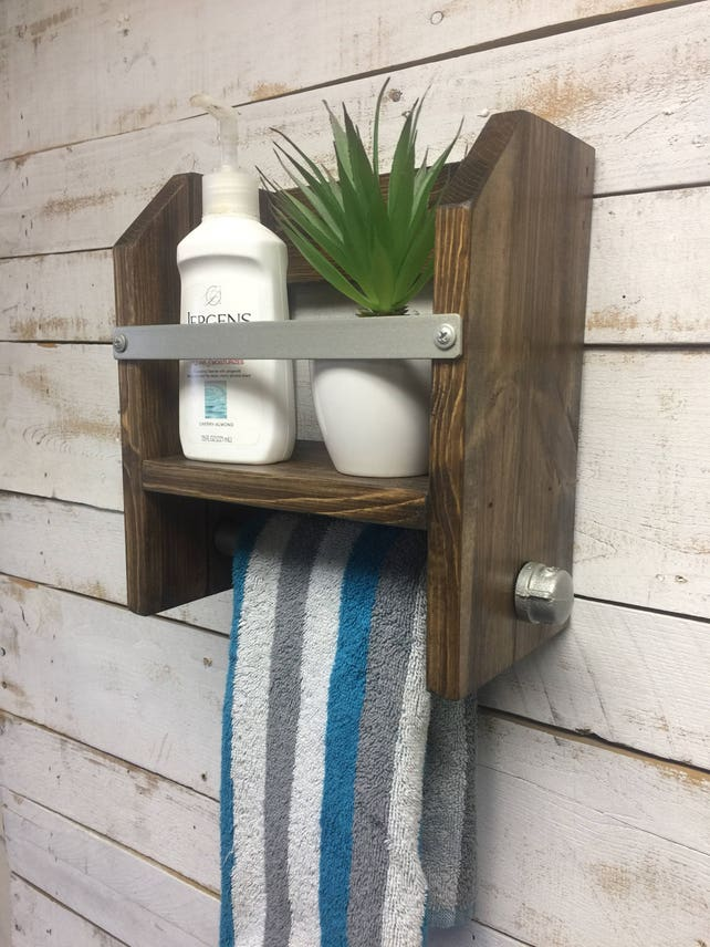 Bathroom towel rackTowel Rack Shelf bathroom towel | Etsy