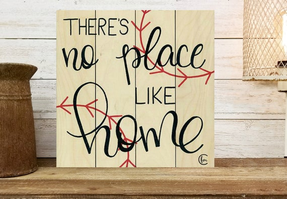 There's No Place Like Home Baseball Sign - Baseball Decor - Wood Pallet Sign - Wood Pallet Art - Sport Decor - Baseball Decor -Boys wall art