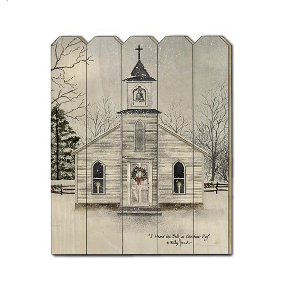I heard the bells on Christmas Day Sign - Church Sign - Billy Jacobs Sign - Primitive Wood Sign - Wood Pallet Sign - Wood Sign