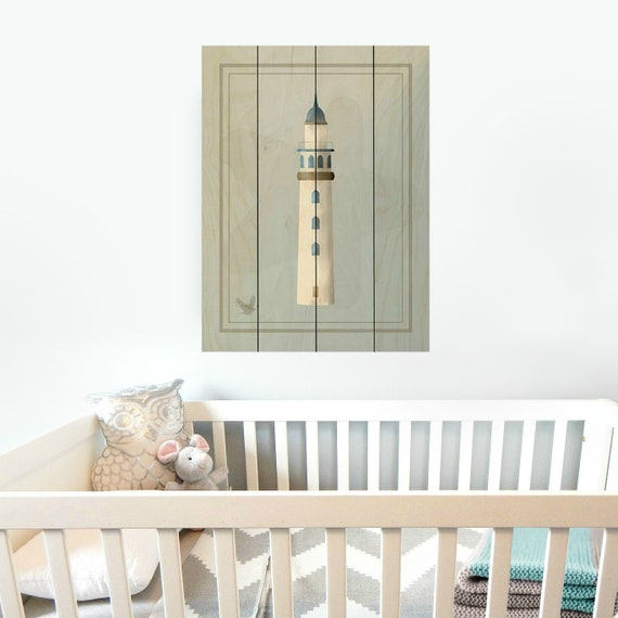 Nautical Lighthouse Sign Nautical Nursery Decor Nautical Wall Etsy