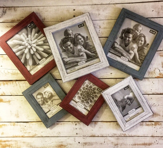 Wooden Picture Frames-Grandparents Picture Frame-Wedding Picture Frames-Barnwood Frame-Gallery Wall Frame-Rustic Wood Frame