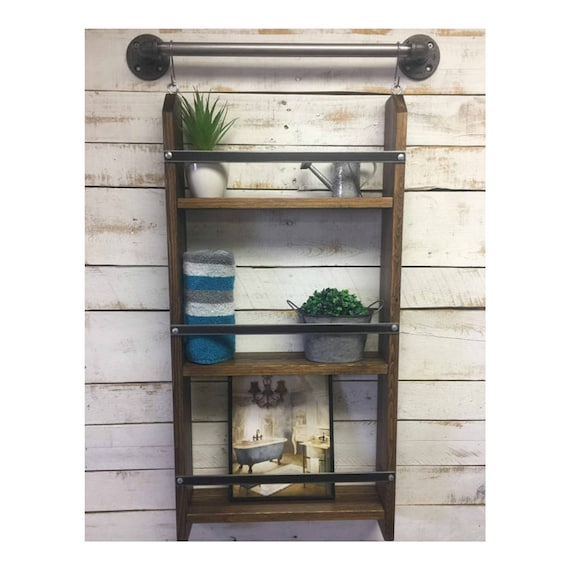 Cool Bathroom Shelving Bathroom Wall Shelf Nautical Decor Shelf Storage Shelves Bathroom Ladder Shelf Bath Ladder Shelf Ladder Shelves Beutiful Home Inspiration Truamahrainfo
