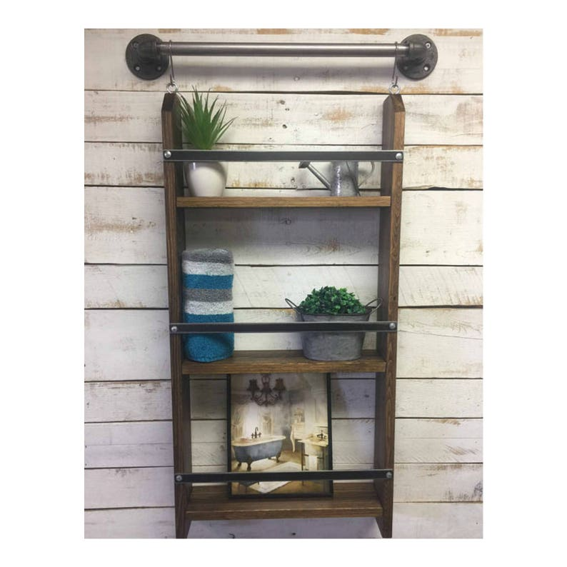 Tremendous Bathroom Shelving Bathroom Wall Shelf Nautical Decor Shelf Storage Shelves Bathroom Ladder Shelf Bath Ladder Shelf Ladder Shelves Beutiful Home Inspiration Truamahrainfo
