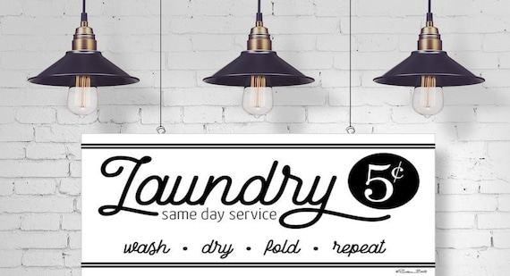 Laundry Same Day Service Print - Home Decor - Laundry Room Sign - Laundry Room Art - Laundry Prints -  Wash Dry Fold Repeat Print