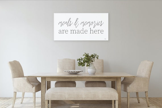 Meals and Memories Are Made Here Print-Dining Room Prints - Dining Room Art - Kitchen Prints - Kitchen Art-Dining Room Wall Decor-Home Art
