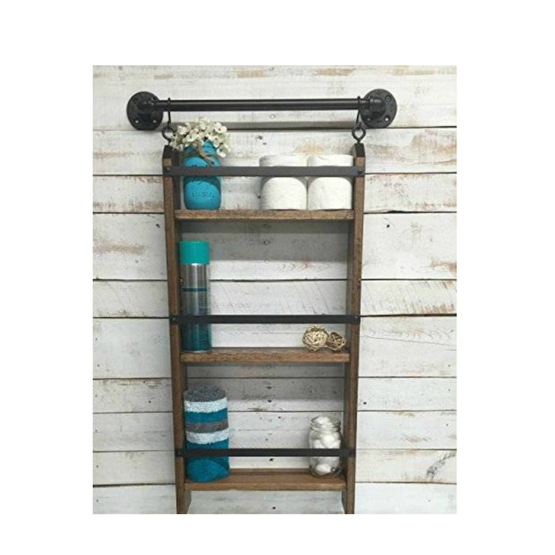 Awe Inspiring Pipe Towel Bar Hanging Wall Shelf Modern Wall Shelf Custom Shelves Industrial Pipe Shelf Steampunk Shelf Industrial Farmhouse Ladder Shelves Interior Design Ideas Clesiryabchikinfo