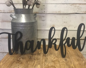 Thankful Sign-Wooden Letters-Thankful Word Cutout-Thankful Word-Thanksgiving-Thankful-Cutout-Wood Sign-Doorway Sign-Wood-Sign-Word Art