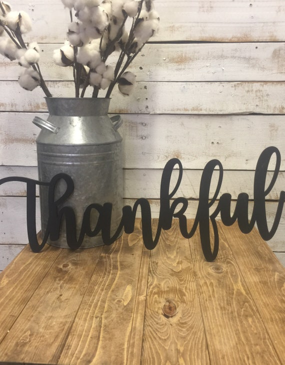 Thankful Wooden Sign-Thanksging Wood Sign-Thankful Wood Sign-Laser Cutout-Thankful Wood Cutout-Hanging Thankful Sign