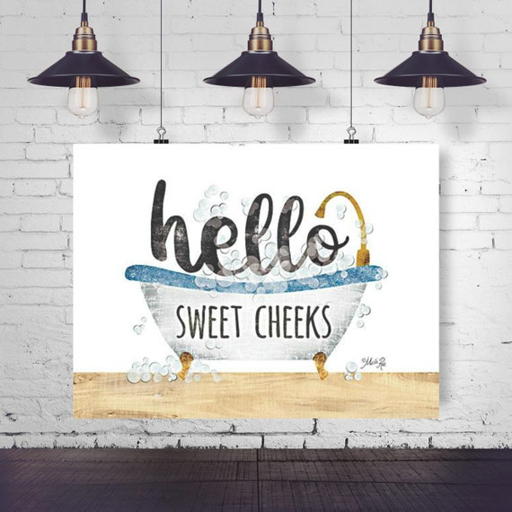 Hello Sweet Cheeks Print | Bathroom Print | Funny Bathroom Print | Bathroom Decor | Toilet Art | Bathroom Prints | Bathroom Wall Art