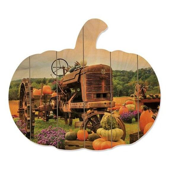 The Harvest wood pumpkin Sign - Pumpkin Decor- Rustic Fall Decor- Autumn Decor - Farmhouse Style- Farmhouse Fall Decor