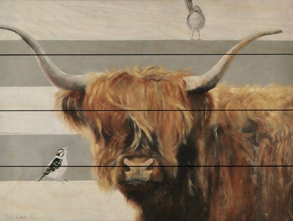 Highland Cow Art - Highland Cattle - Cow Print - Cow Painting - Highland Cow Print - Cow Sign - Cow Artwork - Cow Wall Hanging
