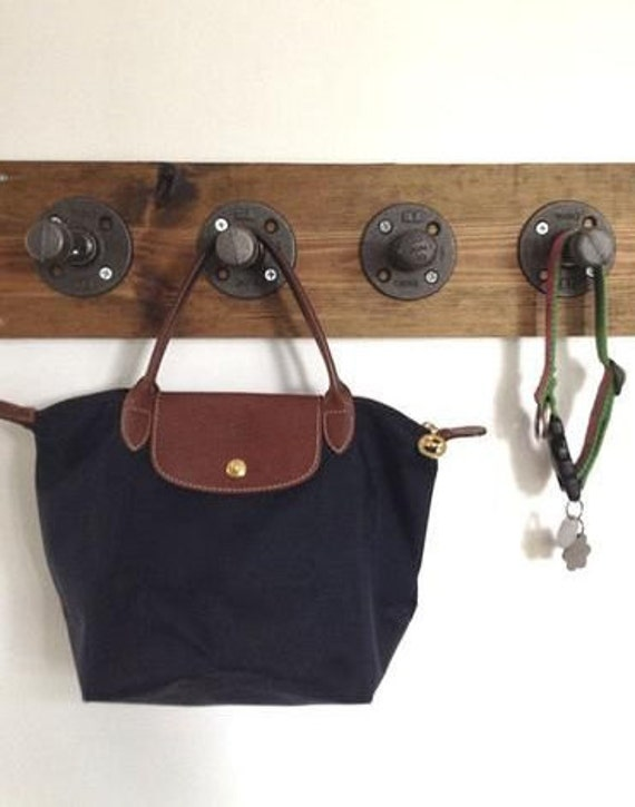 Coat Rack Wall Mount-Entryway Organizer-Dog Leash Hook-Dog Leash Holder-rustic key holders