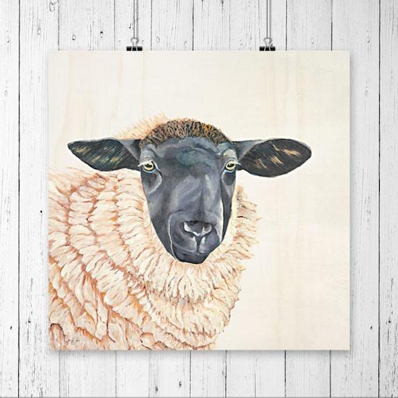 Sheep Wall Art - Sheep Print - Farm Animal Art - Sheep Decor - Animal Wall Art - Animal Prints - Animal Home Decor