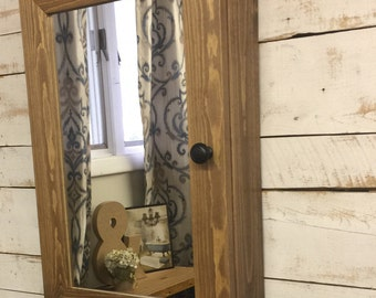 Medicine cabinet with mirror- mirror medicine cabinet - Bathroom mirror -Bathroom Cabinet-Bathroom Storage- Rustic Home Decor- Country Decor