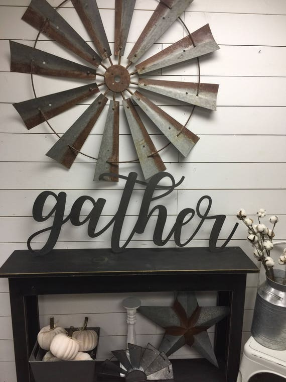 Gather Here-Gather Sign Large-Wood Gather Sign-Rustic-Farmhouse Decor- Wood Sign-Wood Wall Decor-sign-Wood letters-Wood Wall Decor