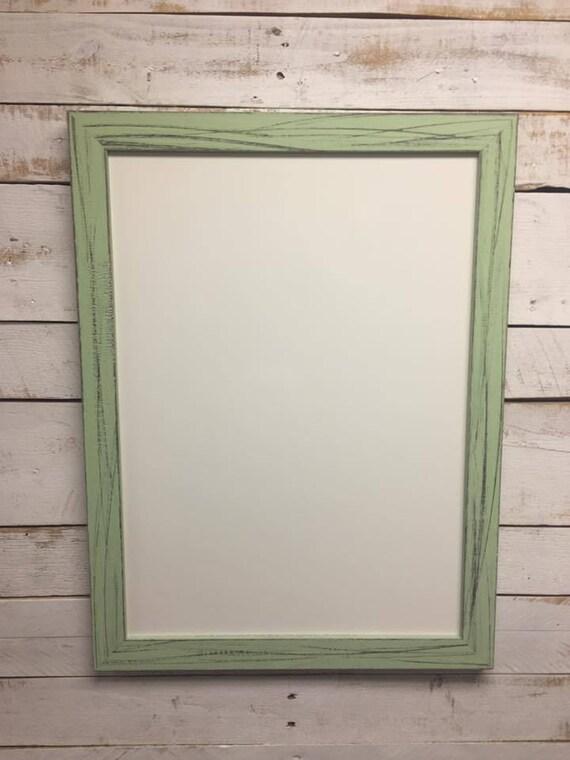 Framed Dry Erase Board - Framed White board - Modern Whiteboard for Wall - Hanging Whiteboard