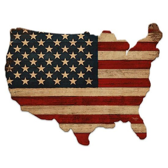Old Glory Sign - America Sign - Wooden USA Sign - America Sign - Usa Wooden sign - USAWood Sign - American Flag - USA Wood Cutout
