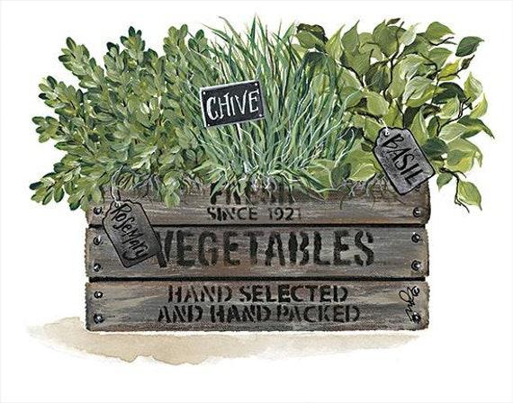 Herbs Print | Herbs Poster | Herb Wall Art | Herb Print | Herb Art | Herb Garden | Kitchen Decor | Herb Plants Print | Basil | Thyme | Sage