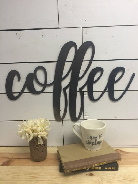Wood Coffee Sign-Coffee Bar Sign-Coffee Bar Decor-Kitchen Coffee Sign-Wooden Coffee Sign-Wood Coffee Sign-Hanging Coffee Sign