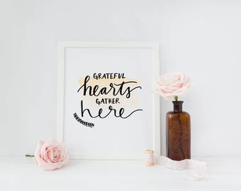 PRINTABLE - Grateful Hearts