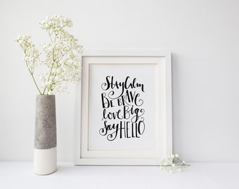 INSTANT DOWNLOAD - Paper Pep Talk - Home Decor - Office Art