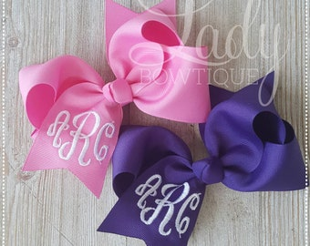 Personalized Boutique Hair Bow~Glitter~Gift~Party Favors~Unique~Lots of Colors!