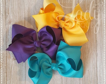 Camp MJC- Hair-bow bundle made to match Matilda Jane's release 1 spring collection-girl hair~bows~baby bows-bundled hair-bows-boutique bows~